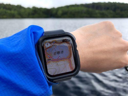 湖上でもApple Watch