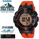 プロトレック電波ソーラーPROTREKメンズ腕時計赤PRW-3000-4